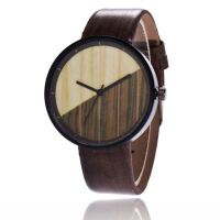 学生韩版简约潮流小清新手表 复古 木纹 创意个性情侣石英手表