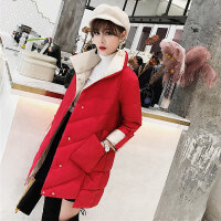 女中长款冬装新款时尚韩版宽松前短后长原宿风棉袄外套厚