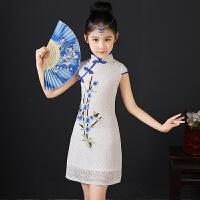 女童旗袍夏新款儿童唐装中国风童装连衣裙宝宝小女孩公主裙