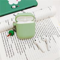 抹茶绿苹果AirPods2耳机套硅胶防摔保护套个性创意女日韩国钥匙扣 一颗树 耳机包