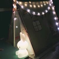 ins兔子灯大号可妮兔硅胶灯可爱小熊北欧儿童房装饰夜灯落地台灯