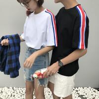 情侣装T恤女宽松百搭原宿bf风夏装半袖上衣 2017韩版新款短袖学生