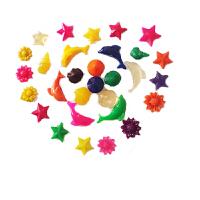 透明海洋宝宝泡大珠吸水珠生物球海绵宝宝无土栽培卡通形状 各种卡通共50克 随机
