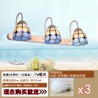 镜前灯卫生间壁灯 欧式田园卧室浴室化妆间创意三头镜柜灯