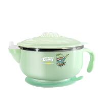 W 宝宝注水保温碗吸盘碗辅食碗婴幼儿吃饭碗勺婴儿童餐具套装不锈钢NS7