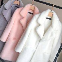 新款皮草毛毛外套女2020秋冬中长款韩版仿水貂毛加棉修身貂绒大衣