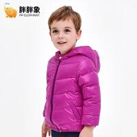 冬季儿童羽绒服小童加厚面包服男童短款女童宝宝羽绒服