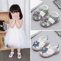 凉鞋女童宝宝鞋子0-1-2岁夏婴儿一软底春秋公主鞋儿童小童学步鞋3