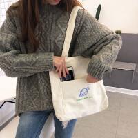 帆布包包女单肩斜挎包ins百搭休闲大学生韩版帆布袋大容量书包女