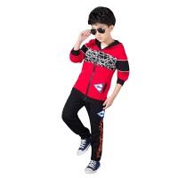 运动套装秋冬韩版新款男童卫衣儿童秋装长袖长裤运动休闲开衫两件套速干柔软保暖透气