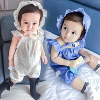 女婴儿连体衣服夏季宝宝夏装男新生儿套装0满月3个月薄款6纯棉1岁