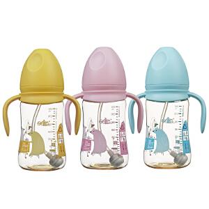 日康(rikang) 宽口径奶瓶 PPSU有柄自动奶瓶240ml RK-3165