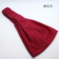 束发运动健身瑜伽宽边月子发带包头巾发箍韩国吸汗纯棉女头套发卡