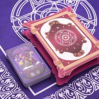 塑料卡牌全套珍藏版齐娜的塔罗牌儿童命运魔法占卜牌少女动漫塔罗