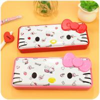 日韩可爱HelloKitty马口铁盒铅笔盒凯蒂猫小学生女文具盒儿童礼物