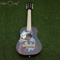 开心30寸小吉他 六弦木质儿童吉他玩具可弹奏初学者早教乐器a297