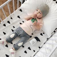 婴儿春季衣服宝宝纯棉可爱圆领长袖气球T恤韩版百搭修身上衣
