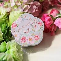 新款花形创意喜糖盒子铁盒 婚庆用品糖果盒结婚用品 小号100只整箱(请确定好容量
