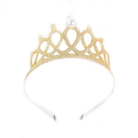 �n���n版�和��l������^� 女童可�坶W亮�c珍珠皇冠�l箍�缮���拍