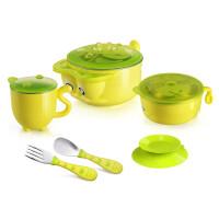 儿童餐具套装宝宝注水保温吃饭不锈钢吸盘碗婴儿辅食勺