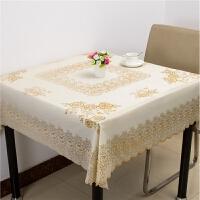 桌布正方形北欧清新正方形桌布八仙桌台布田园防水免洗防油餐