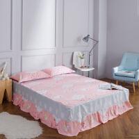 伊迪梦家纺 全棉单件床裙 精选优质纯棉固定床罩式床单 高支高密活性环保印染棉质面料 单人双人床HC331