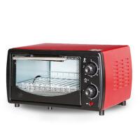 烘焙烤蛋糕披萨小烤箱迷你电烤箱家用 红黑色