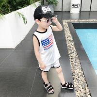 男童夏装新款套装无袖韩版洋气上衣夏季童装中大童背心两件套