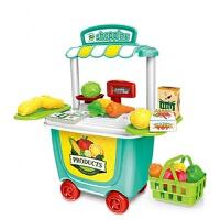 仿真超市收银机玩具 儿童收银台宝宝刷卡机女孩 过家家售货机套装