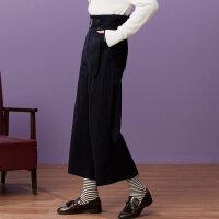 【1件3折到手价:58.8】美特斯邦威休闲裤女夏装新款棉布阔腿裤韩版宽松舒适学生潮