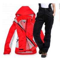 户外冲锋衣套装女衣裤两件套抓绒可拆三合一秋冬登山滑雪服装