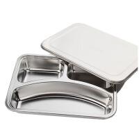 不锈钢分格饭盒小学生便当盒多格铁餐盒