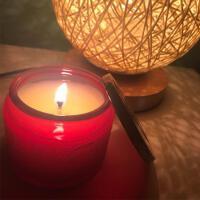 香薰蜡烛小浮雕玻璃杯无烟精油香氛*盒