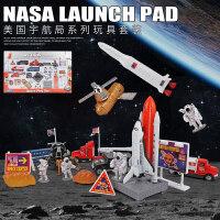 火箭模型太空飞船宇航员登月卫星航天飞机玩具儿童合金玩具车套装