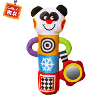 lalababy/拉拉布玩 婴儿手摇益智玩具0-12个月宝宝安抚抓握 熊猫摇棒