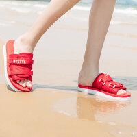 【1件5折到手价:84.5】美特斯邦威拖鞋女夏季新款时尚潮流韩版休闲学生超酷包子拖鞋