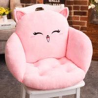 掎子坐垫猫咪美臀坐垫加厚护腰皮垫坐垫靠垫一体榻榻米椅垫办公室学生座垫