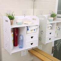 家居生活用品浴室壁挂置物架卫生间化妆品首饰收纳盒厕所洗漱用品收纳柜免打孔