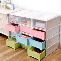 塑料内衣收纳箱衣柜收纳盒 抽屉式衣服整理箱大号玩具收纳储物箱