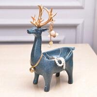 树脂工艺装饰品实用创意家居钥匙收纳摆件鹿