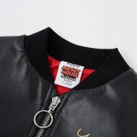 【2件2.5折叠券约:82,12日0点】moomoo童装女童外套新款冬装迪士尼洋气中大儿童PU夹克