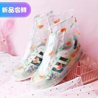 透明雨鞋套女鞋套防水雨天防雨水鞋套防滑加厚耐磨成人下雨天神器