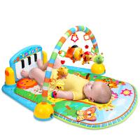 新生婴儿脚踏钢琴健身架宝宝音乐游戏毯早教玩具0-1岁3-6-12个月 抖音