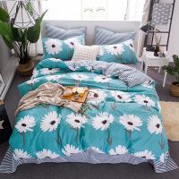 四件套全棉纯棉床上用品床单被套单双人宿舍三件套