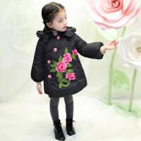 3岁女童棉衣冬装外套2018新款2-4儿童洋气棉袄小女孩中长款