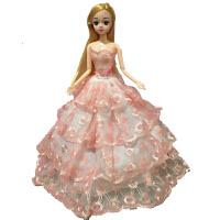 芭比娃娃女孩公主儿童玩具单个装新娘芭比公主婚纱礼服女生洋娃娃