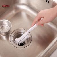 aisen360度厨房排水口清洁刷煤气灶刷卫生间瓷砖缝隙硬毛刷子小号