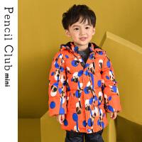 【3折价:149.7】铅笔俱乐部童装2019冬季新款男童羽绒服小童羽绒外套儿童连帽外套
