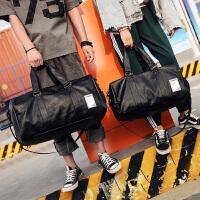 短途旅行包男出差手提包女旅游包简约行李包袋防水健身包 黑色 中