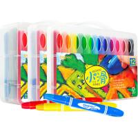 ?卡乐优儿童蜡笔可水洗宝宝画笔小滑旋转油画棒24色36色?